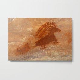 Deluge Shelter Rock Art, Dinosaur National Monument Metal Print