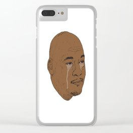 Jordan Crying Clear iPhone Case