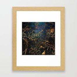 KINTSUGI  ::  Embrace Damage Framed Art Print