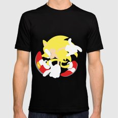 Super Sonic Mens Fitted Tee SMALL Black