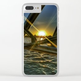 Wakesurfing Mission Bay CA Clear iPhone Case