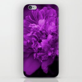 Peony In Ultra Violet Color #decor #society6 #buyart iPhone Skin