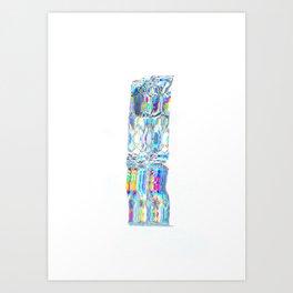 Totem of light Art Print