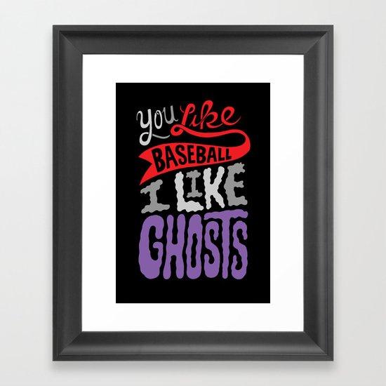 Baseball, Ghosts Framed Art Print