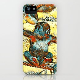AnimalArt_Gorilla_20170605_by_JAMColorsSpecial iPhone Case