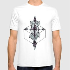Reflection MEDIUM Mens Fitted Tee White