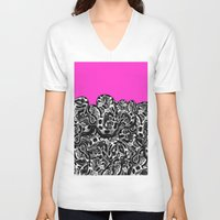 monty python V-neck T-shirts featuring Python Pink by Hipsterdirtbag