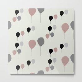 Pink palloncini Metal Print