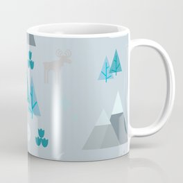 Winter Forest Mountains And Trees Coffee Mug