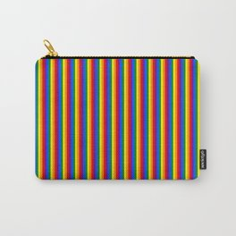 Vertical Gay Pride Rainbow Flag Pin Stripes Carry-All Pouch
