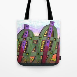 Abstract Cactus Architectural Design 84 Tote Bag