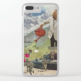 Give them Flowers Instead of Bullets Clear iPhone Case