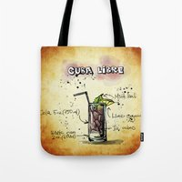 cuba Tote Bags featuring Cuba Libre by jamfoto