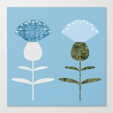 MCM Basket Flower Blue Canvas Print
