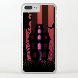 Be it ever so Haunted, there's no place like Home. Clear iPhone Case