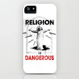 Religion is Dangerous propaganda graffiti street art inspired. Punk, sub culture anarchy rebellion. iPhone Case