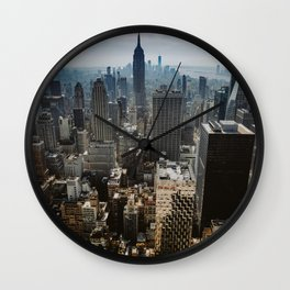 NYC skyline views Wall Clock