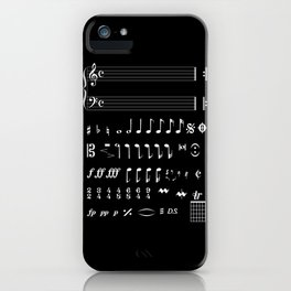 Musical Notation Negative iPhone Case