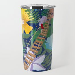 Bridge of Tropical Flowers Travel Mug