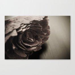 Wooden Flower - Vintage Canvas Print