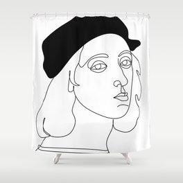 rafael santi artist by one line Shower Curtain