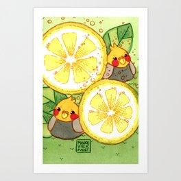 Lemonade Birds Art Print