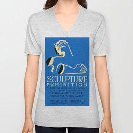 Sculpture Exhibition Design Unisex V-Neck