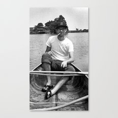 Ronn boating it up. Canvas Print