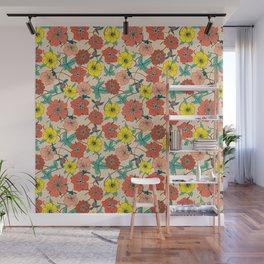 Potentillas and Daisies Wall Mural
