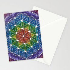 Rainbow Happy Flower of Life Stationery Cards