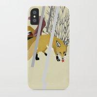 kitsune iPhone & iPod Cases featuring Kitsune by ravenguerrero