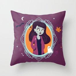 Halloween Girl Throw Pillow