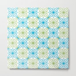 Blue and green abastract circles pattern Metal Print