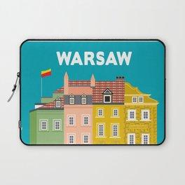 Warsaw, Poland - Skyline Illustration by Loose Petals Laptop Sleeve