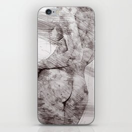 Nude woman pencil drawing iPhone Skin