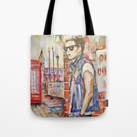 niall Tote Bags featuring Niall by Iván Gabela