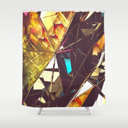 Fractured Time Shower Curtain