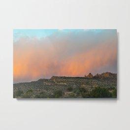 Dramatic Desert Sunset at Arches Metal Print