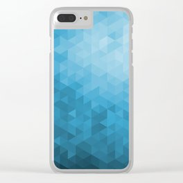 Blue Abstract Highlight Design Clear iPhone Case