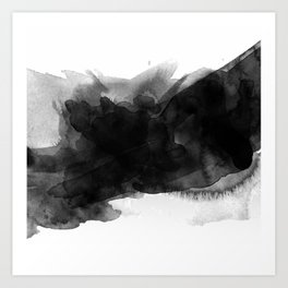 black ink splash Art Print