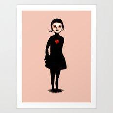 French Girl III Art Print