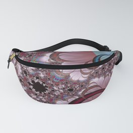 Strawberry Cream Moons Fractal Fanny Pack