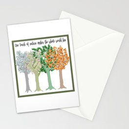 Four Season Trees Stationery Cards