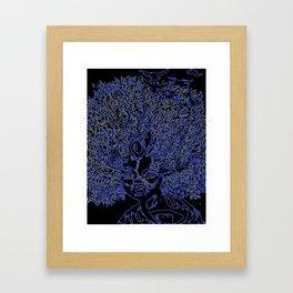 Neon afro tree hair Framed Art Print