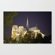Notre Dame at Night Canvas Print