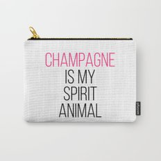 Champagne Spirit Animal Funny Quote Carry-All Pouch