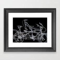 White bikes Framed Art Print