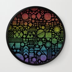 Modern Elements with Spectrum. Wall Clock