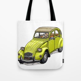 Yellow 2CV Tote Bag