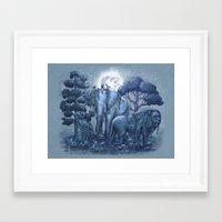 stone Framed Art Prints featuring Stone Garden by Terry Fan